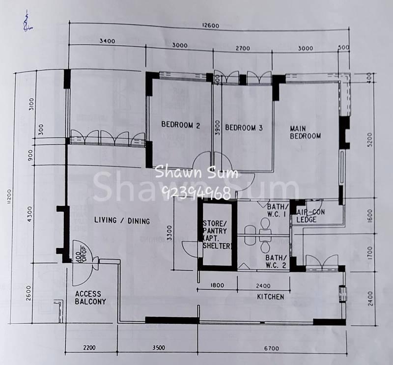 Floor Plan of 612 Senja Road HDB 5I