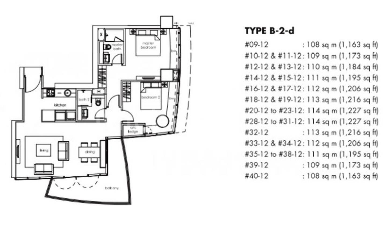 One Shenton #2x-12 Floor Plan