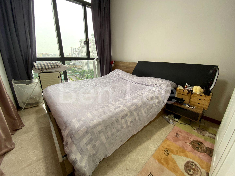 extra bedroom with queen bed space, wardrobe
