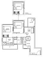 2 Bedrooms Type 2D3