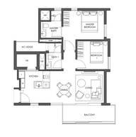 2 Bedrooms Type B3e
