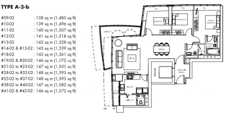 One Shenton #2x-02 Floor Plan