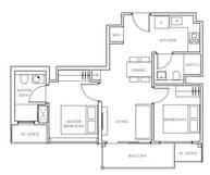 2 Bedrooms Type B1