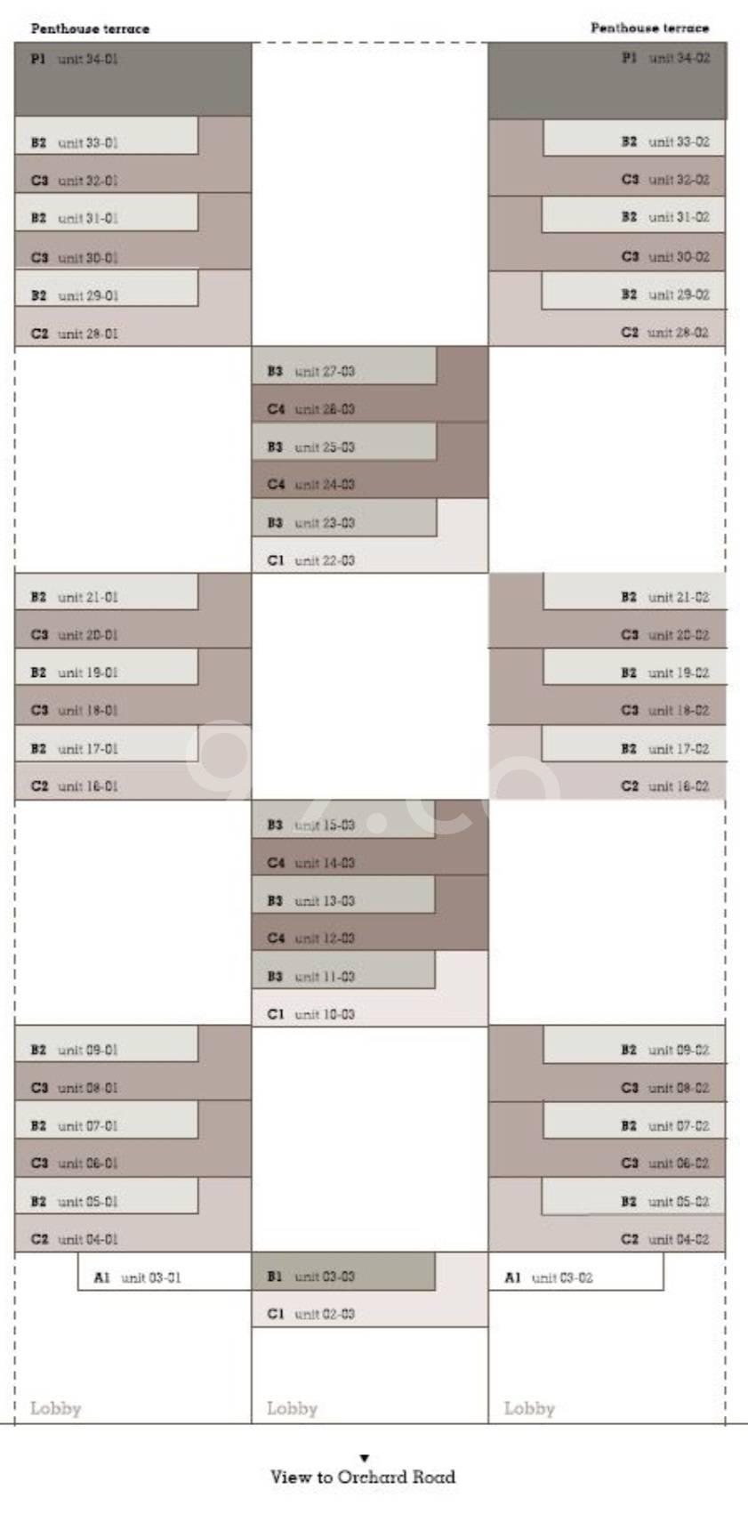 Twentyone Angullia Park elevation chart