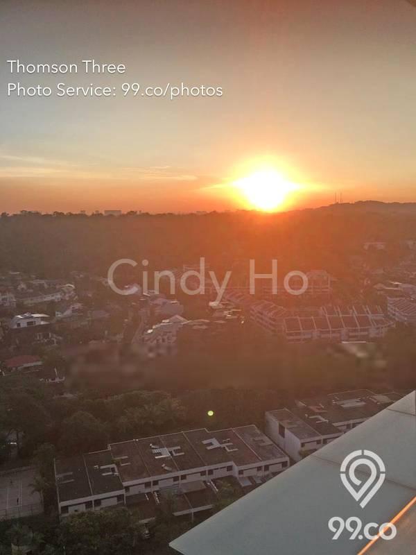 Sun setting view