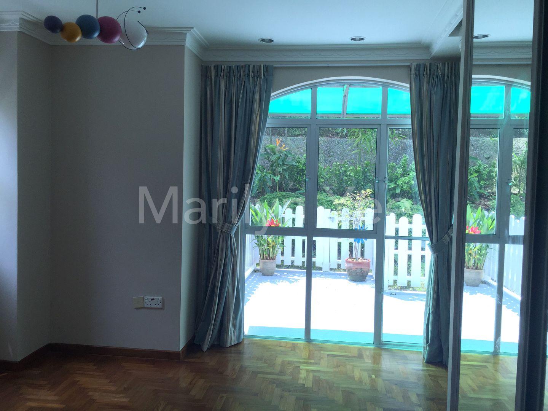 Junior master bedroom opens into terrace