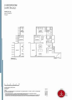 2+Study . Enclose kitchen