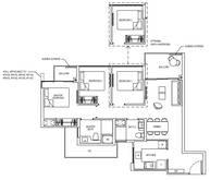 3 Bedrooms Type 3C1e