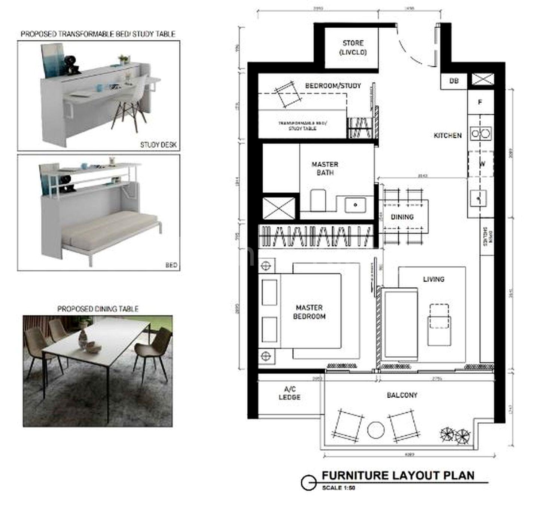 ID Idea 2 - flexi study cum 2nd bedroom