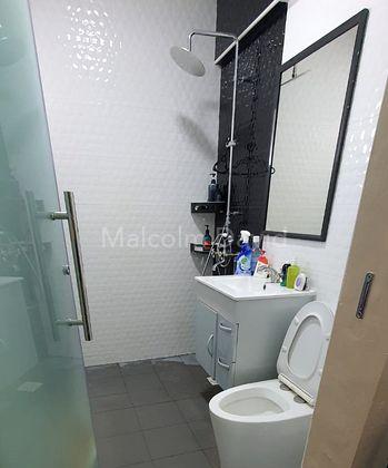Modern Fixtures In Master Bathroom