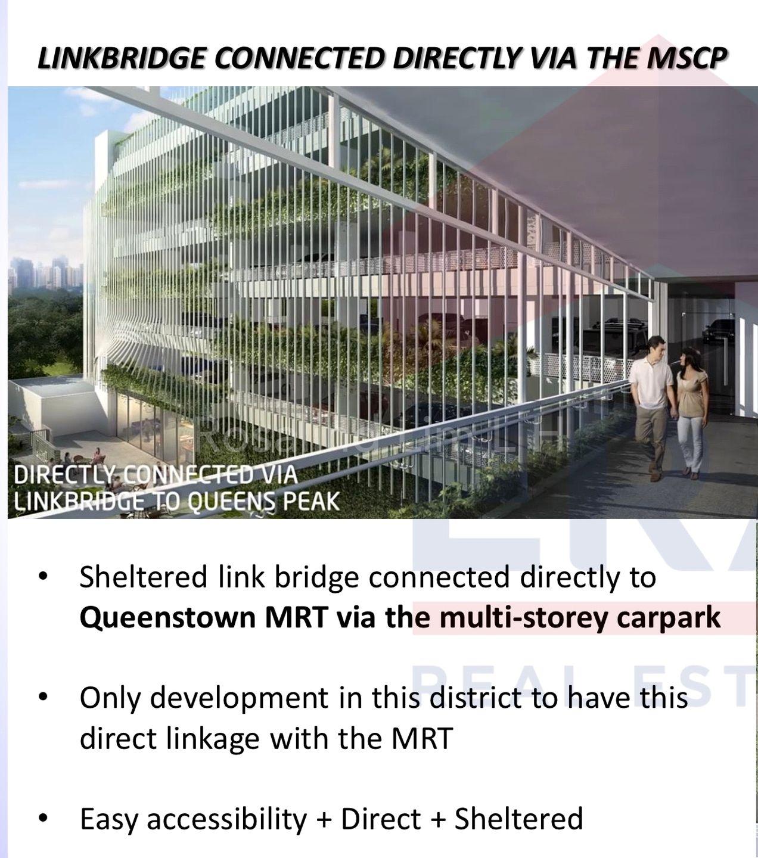Sheltered Direct Link Bridge to MRT