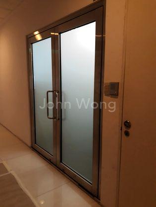Solid Metal & Glass Main Door.