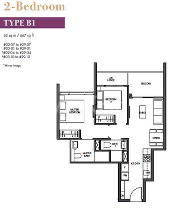 Pullman 2 Br layout