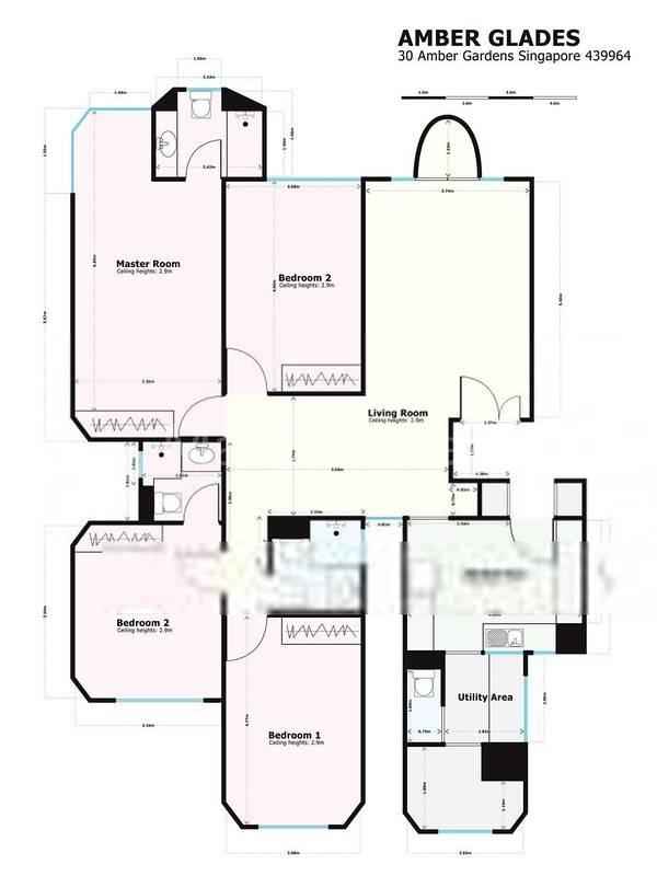 4 Bedroom Floor Plan 1668sqft