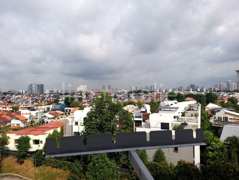 Overlooking landed houses. Blk 223 Serangoon