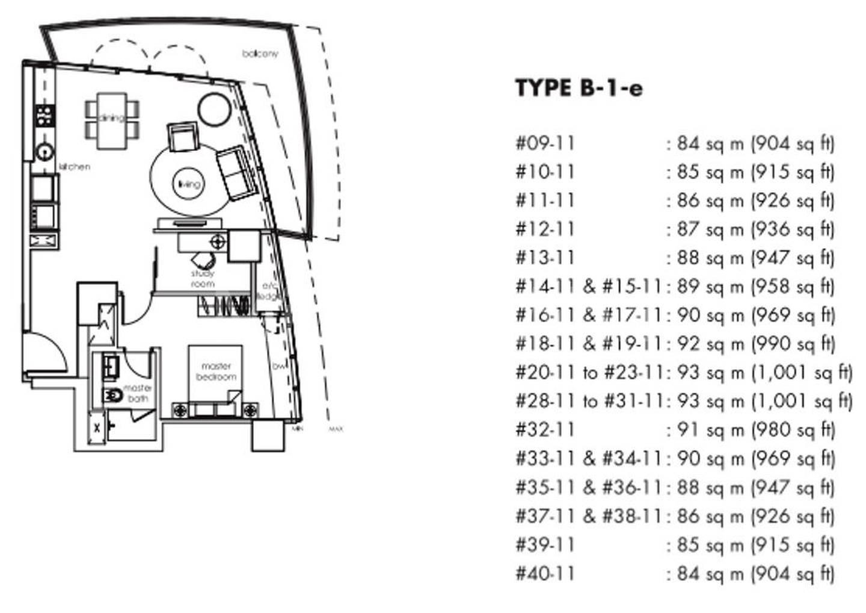 One Shenton #2x-11 Floor Plan
