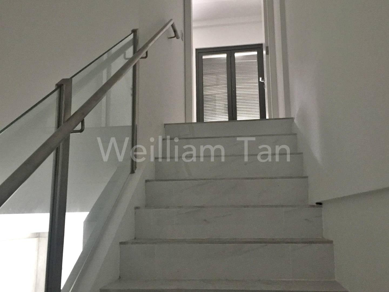 Stairway to upper bedroom
