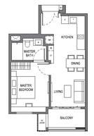 1 Bedroom Type A1b