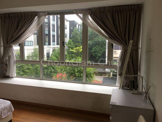 Master bedroom #1 window view (Rent @$1600)
