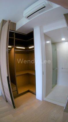 Master room L-shaped wardrobe