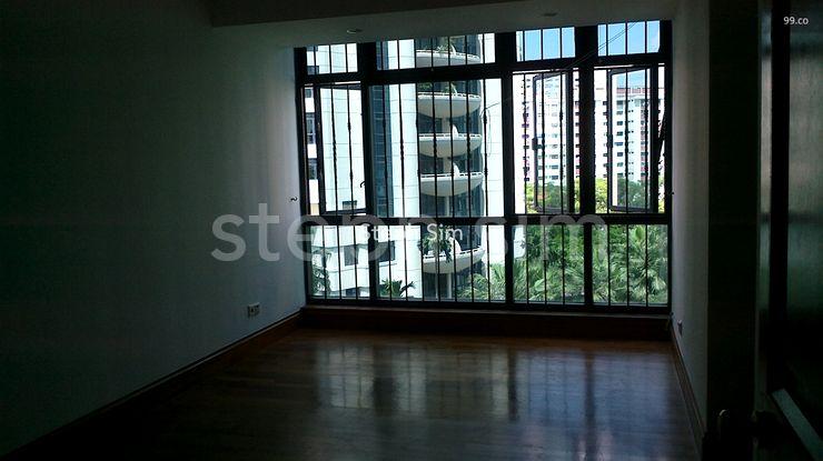 big master bedroom with window grilles