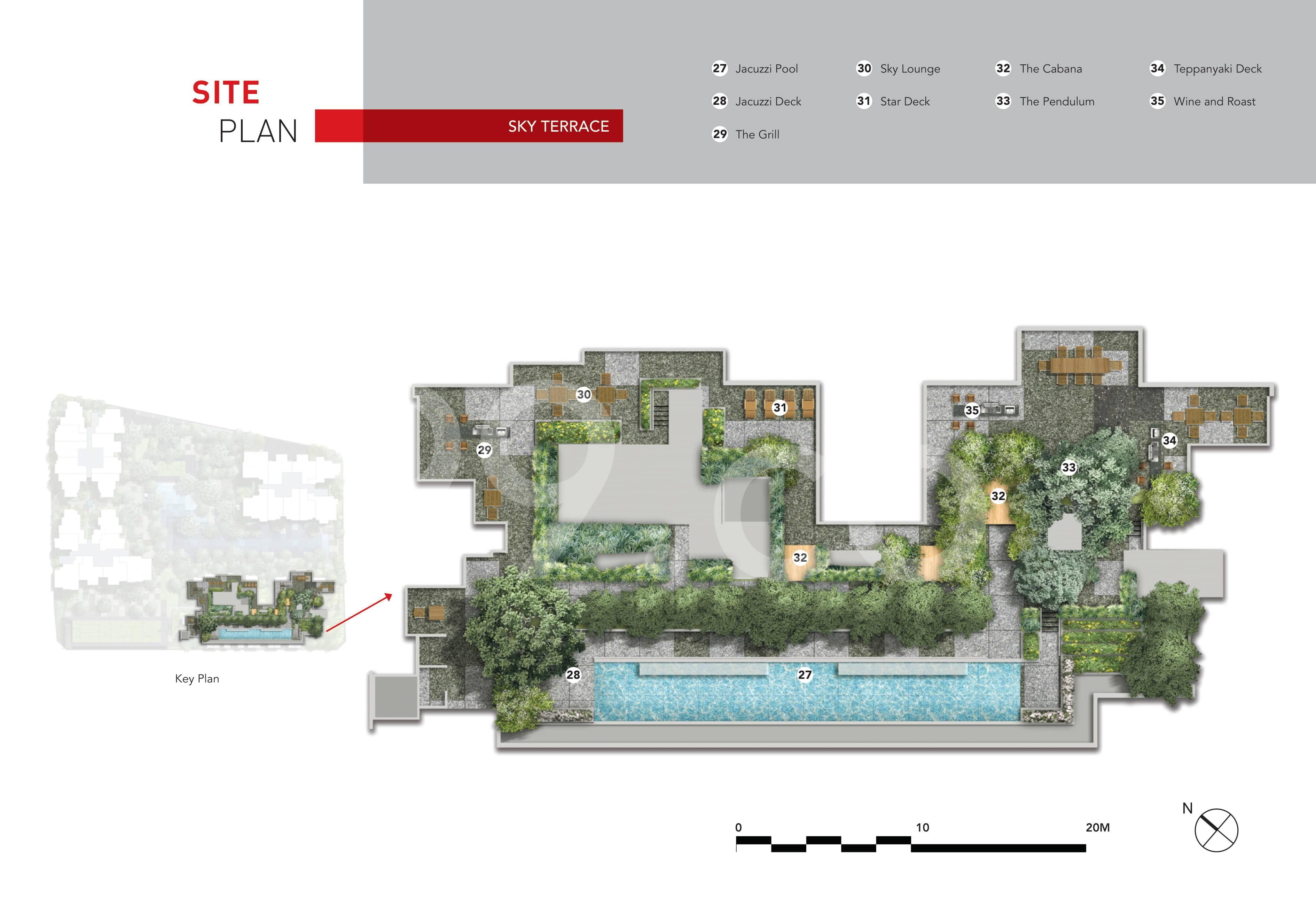 The M site plan