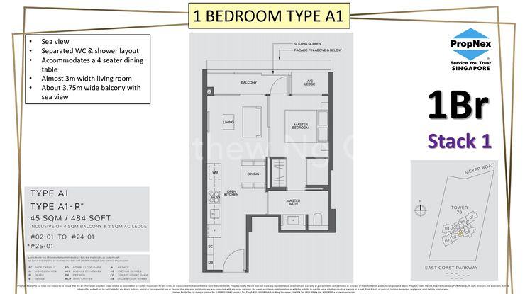 Type A1-1 Bedroom 484 Sqft