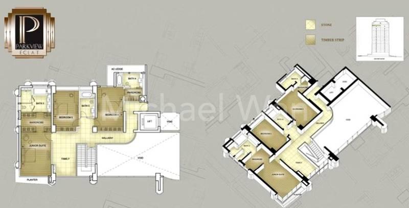 Parkview Eclat Duplex Penthouse #1x-02/5898sqft (Upper)