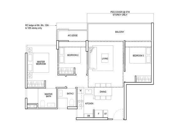 North Park Residences 3 Bedroom Floor Plan