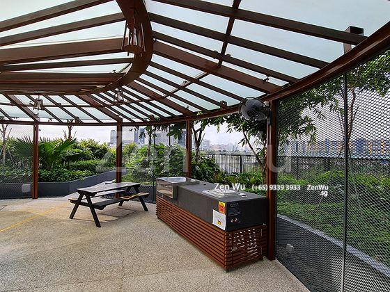Cove Pavilion With BBQ Pit