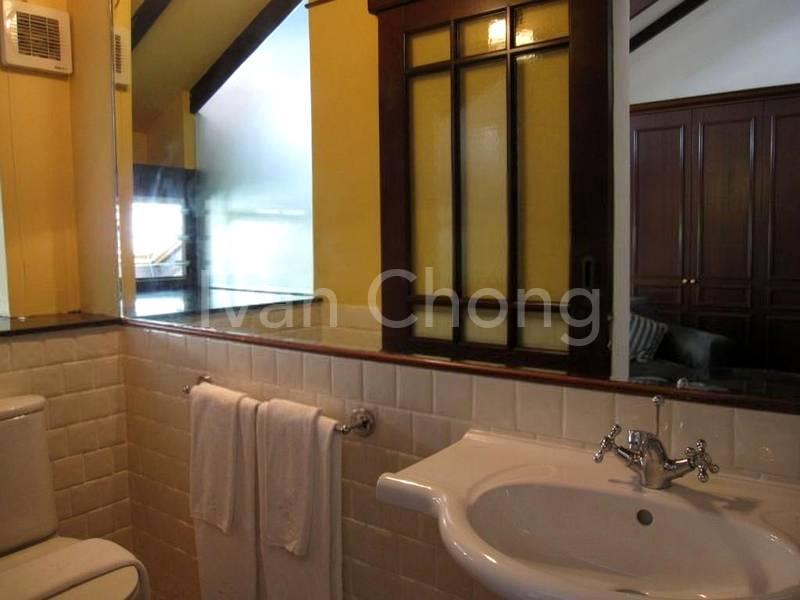 Attached bath in attic room