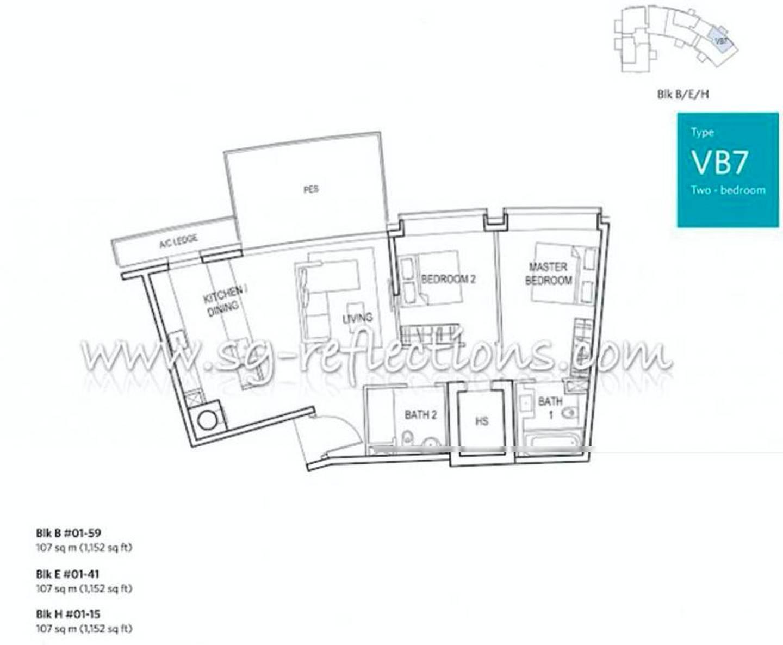 Reflections @ Keppel Bay #01-5x Floor Plan