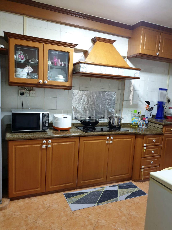 Granite top kitchen cabinet