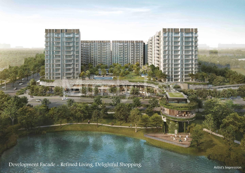 Development Facade - Refined Living, Delightful Shopping