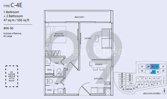 Guillemard Suites - Configuration C4E