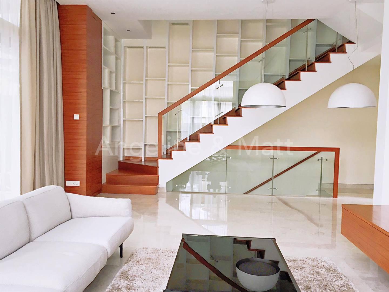 Living room will modern interiors.