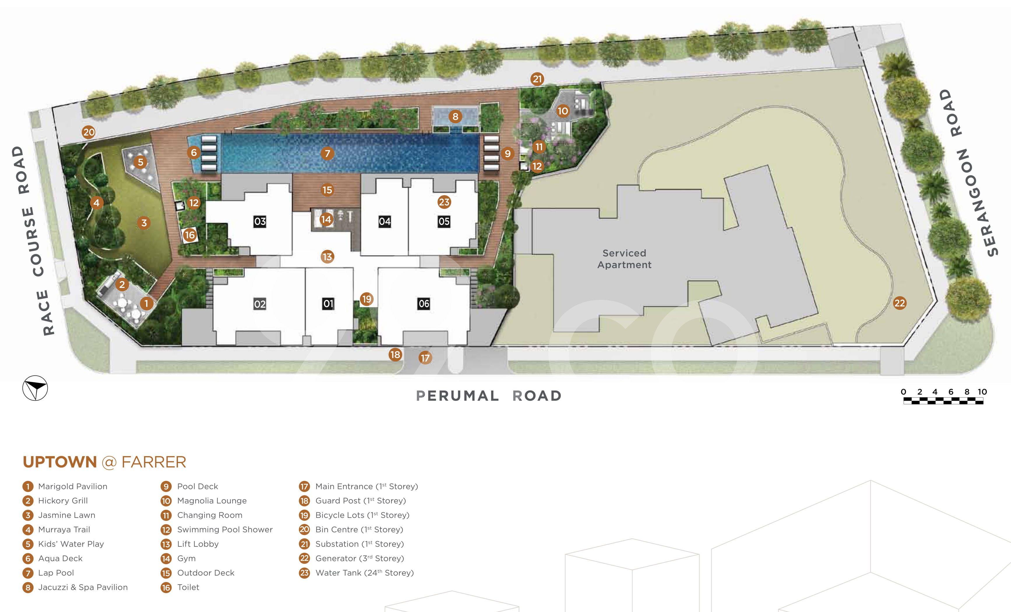Uptown @ Farrer site plan