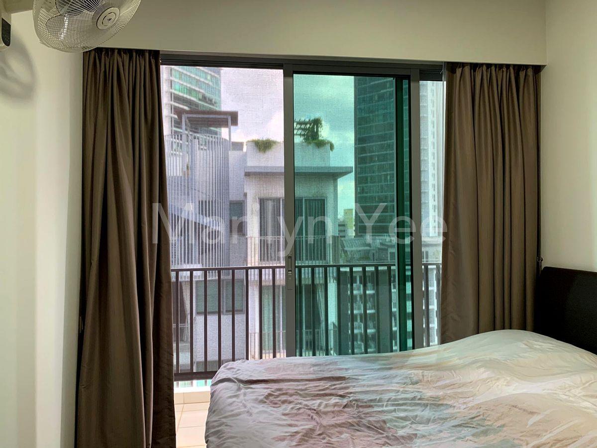 Master bedroom opens into the balcony