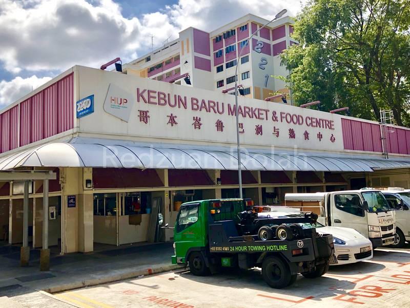 3-minute walk to Kebun Baru Market & Food Centre