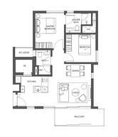 2 Bedrooms Type B1a