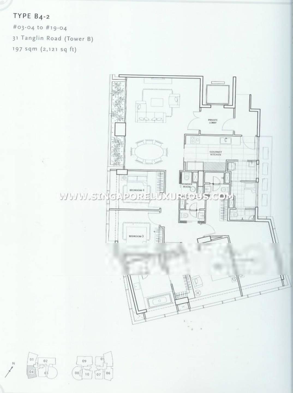 St Regis #1x-04 4Brms/2121sqft Floor Plan