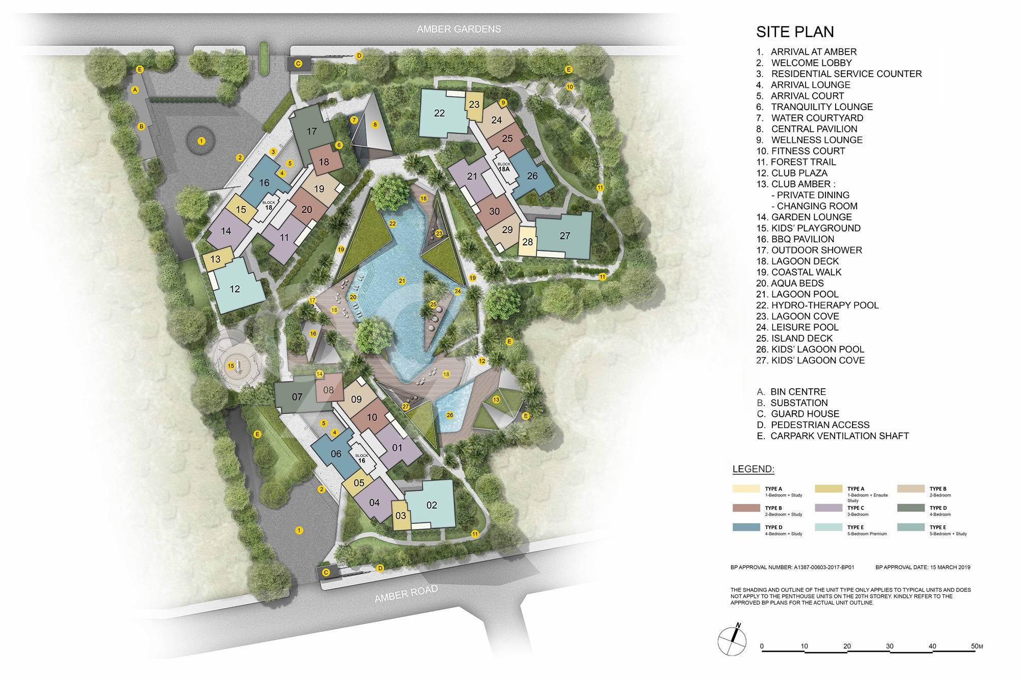 Amber Park site plan