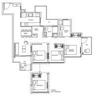 3 Bedrooms Type 3D2G