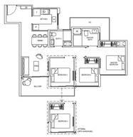 3 Bedrooms Type 3C1d
