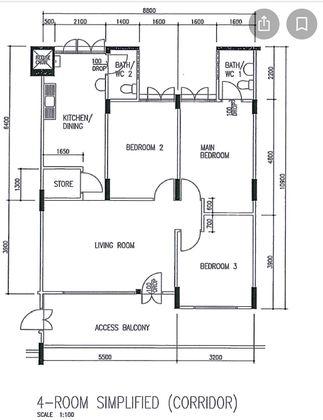 Floor Plan 904 sf/84 sm