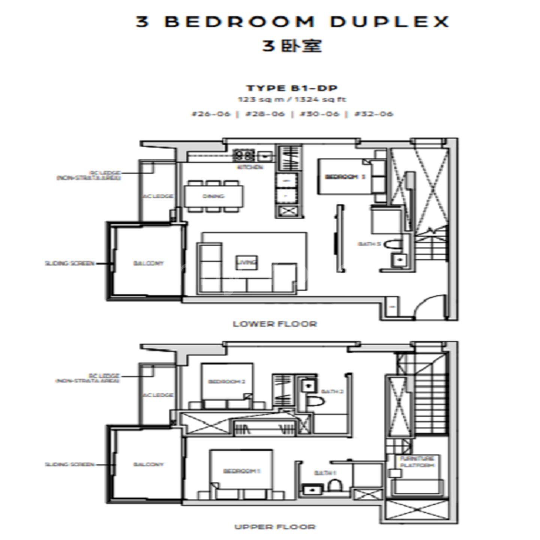 3 bedroom Duplex  Dual Key