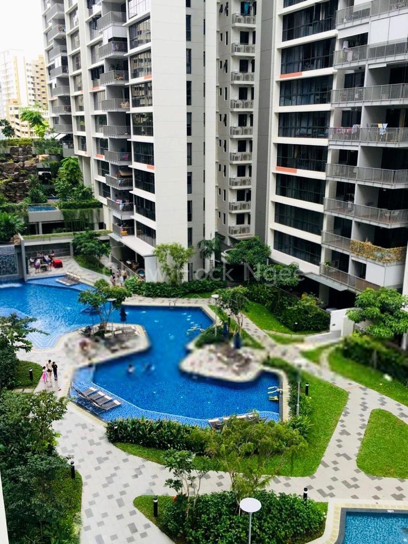 Pool facing apartment