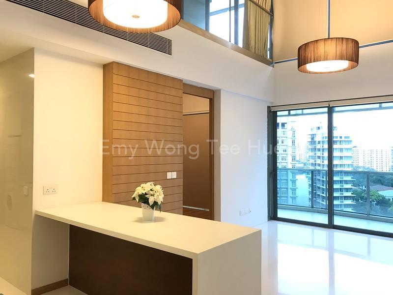 Loft - common bedroom at entrance level & master bedroom on upper level