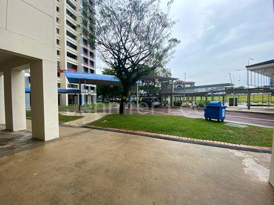 Sheltered walkway to MRT