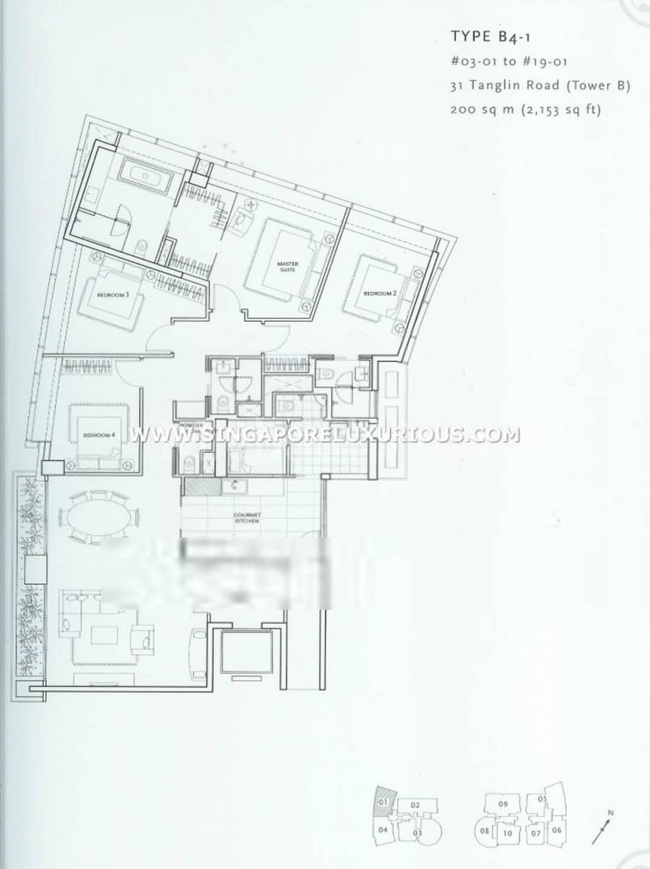 St Regis #1x-01 4Brms/2153sqft Floor Plan